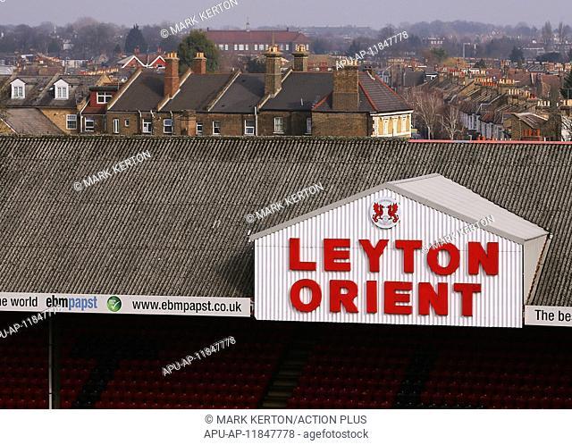2017 Skybet League 2 football Leyton Orient v Notts County Feb 18th. February 18th 2017, Matchroom Stadium, Leyton, London, England, Skybet Division 2 football