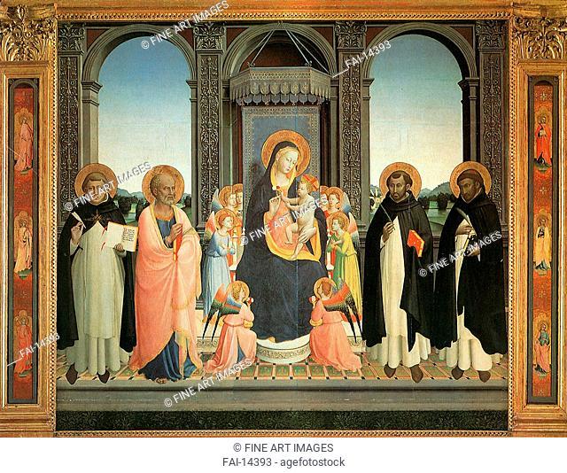 Fiesole Triptych. Angelico, Fra Giovanni, da Fiesole (ca. 1400-1455). Tempera on panel. Renaissance. 1424-1430. San Domenico, Fiesole. 212x237