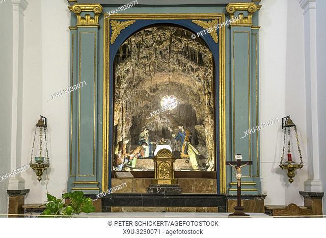 Innenraum der Kapelle Ermita de Betlem bei Arta, Mallorca, Balearen, Spanien | Ermita de Betlem chapel interior near Arta, Majorca, Balearic Islands, Spain