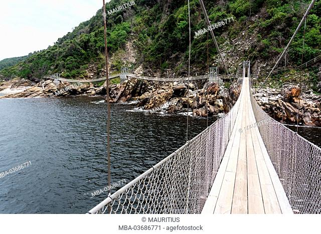 South Africa, Tsitsikamma National Park, Storms River, suspension bridge