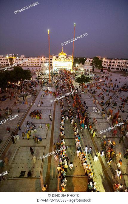 Illuminated Sachkhand Saheb Gurudwara for 300th year of Consecration of perpetual Guru Granth Sahib on 30th October 2008 ; Nanded ; Maharashtra ; India