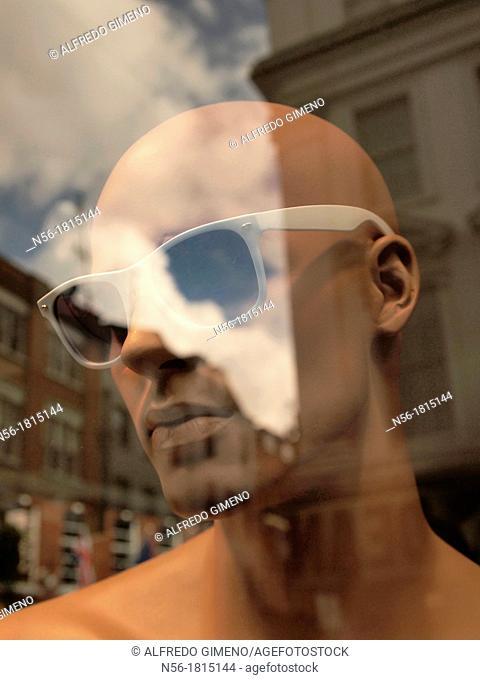 fashion dummy with sunglasses