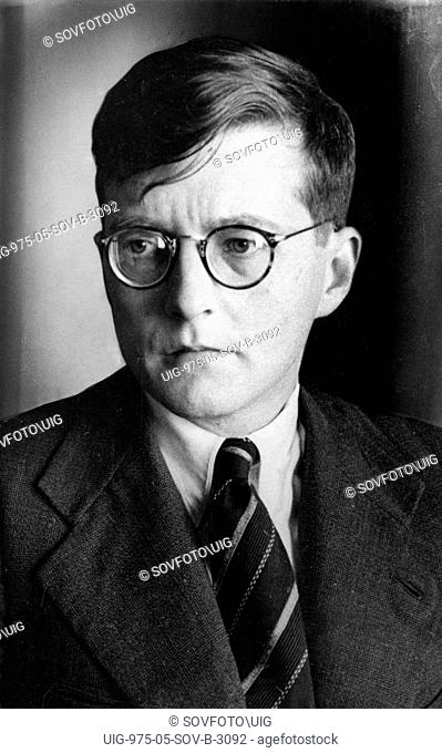 Soviet composer dmitri shostakovich, early 1940s