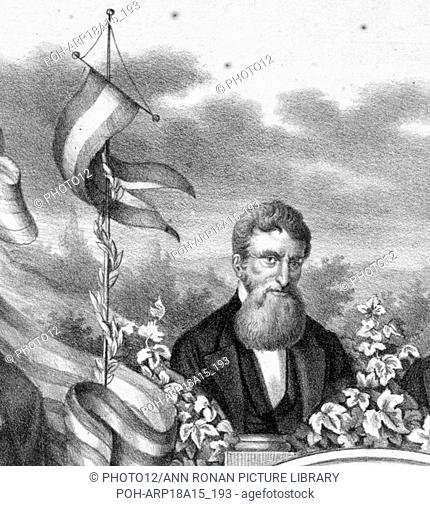 abolitionist martyr John Brown detail from: ' Print commemorating the celebration in Baltimore of the enactment of the Fifteenth Amendment