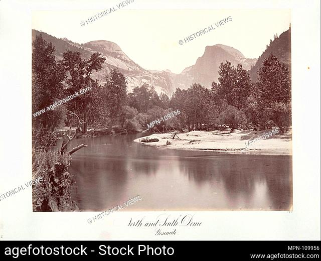 North and South Dome, Yosemite. Artist: Attributed to Carleton E. Watkins (American, 1829-1916); Date: ca. 1872, printed ca