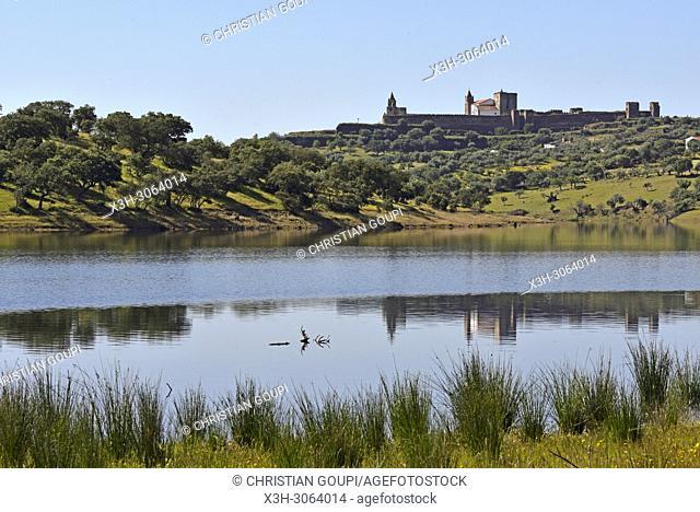 banks of the dam lake of Alqueva on the Guadiana River near Mourao, Reguengos de Monsaraz, Alentejo region, Portugal, southwertern Europe