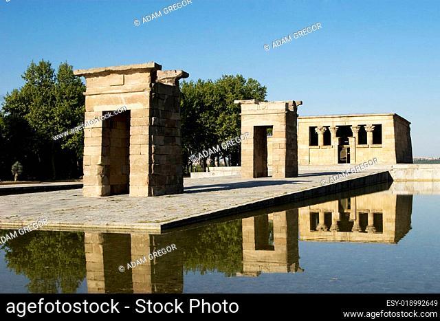 Ägyptischer Debod-Tempel in Madrid