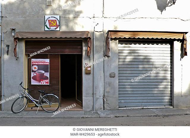sede del partito comunista, nonantola, emilia romagna, italia