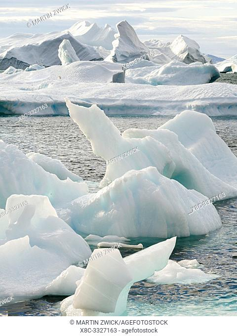 Iceberg in the Uummannaq Fjord System. America, North America, Greenland, Denmark