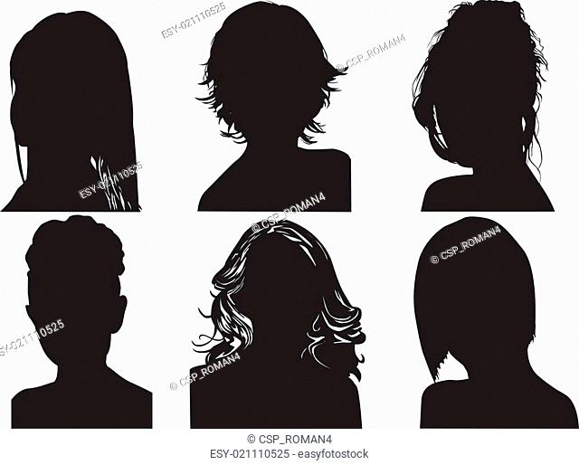 silhouettes of womens heads