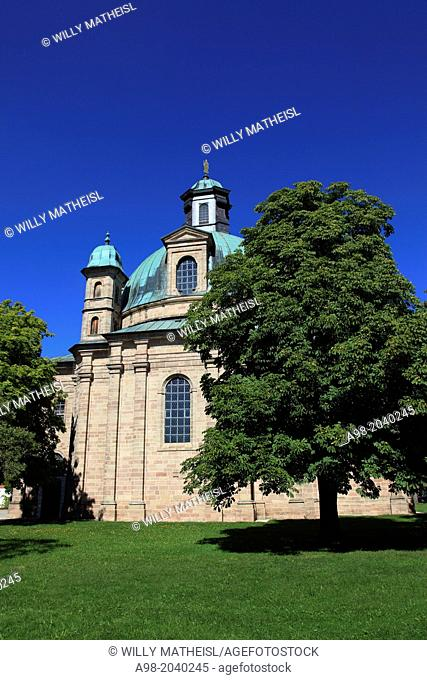 Sanctuary, Maria-Hilf at the city Freystadt, Middle Franconia, Franconia, Bavaria, Germany