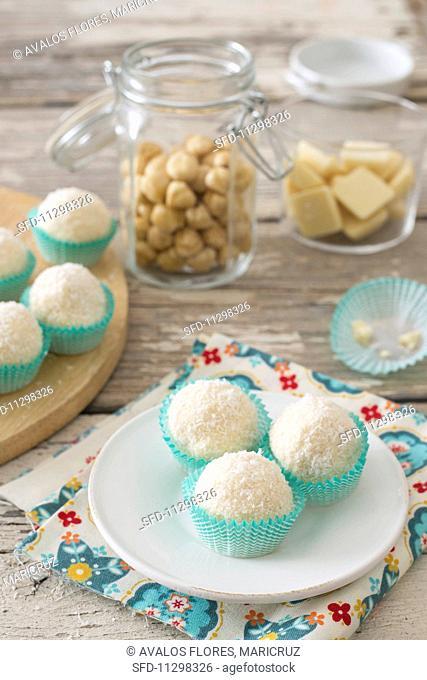 Coconut and hazelnut sweets
