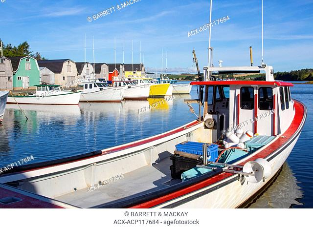 Fishing boats, French River, Prince Edward Island, Canada