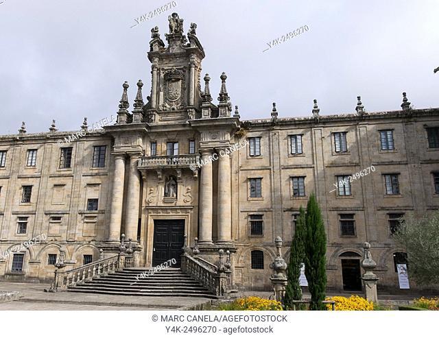 Europe, Spain, Santiago de Compostela, Praza da inmaculada, Inmaculada Square, Monastery of St. Martin Pinario. The monastery of San Martiño Pinario San Martín...