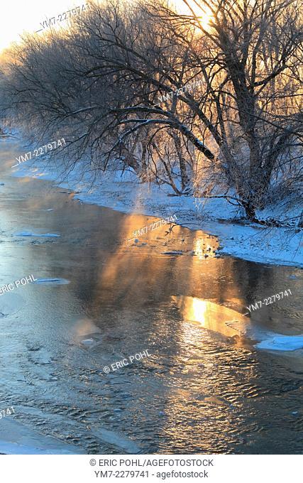 Shell Rock River in Winter - Shell Rock, IA