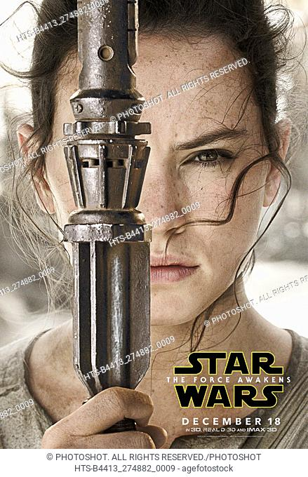 """""""Star Wars: Episode VII - The Force Awakens"""" (2015) Rey character poster (Daisy Ridley) © 2015 Lucasfilm"