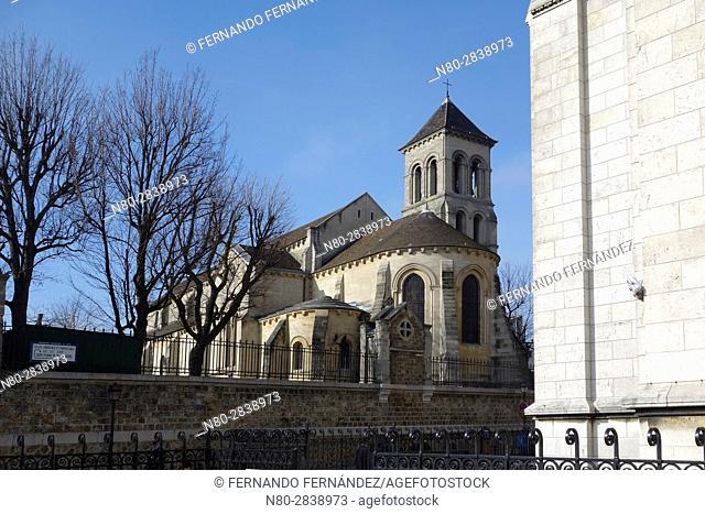Church of Saint Peter of Montmartre. Saint-Pierre de Montmartre. Montmartre. Paris. France. Europe