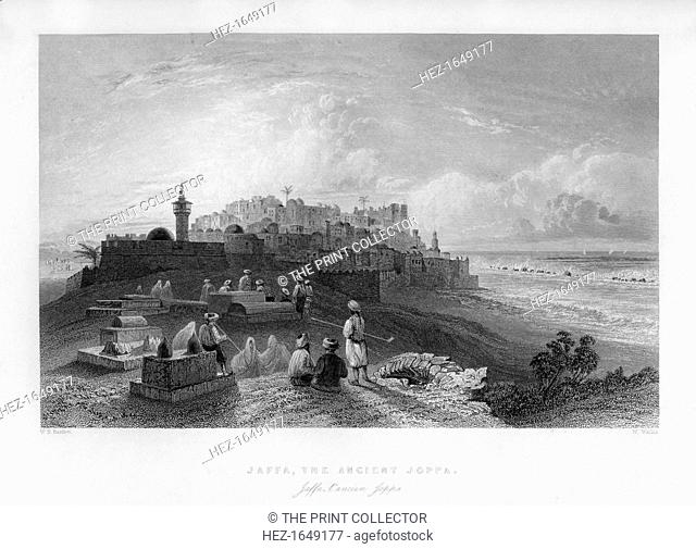 Jaffa, the ancient Joppa, Palestine (Israel), 1841. From Syria, the Holy land and Asia Minor, volume II, by John Carne, published by Fisher, Son & Co