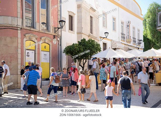 the town of Loule in the Algarve in the south of Portugal in Europe
