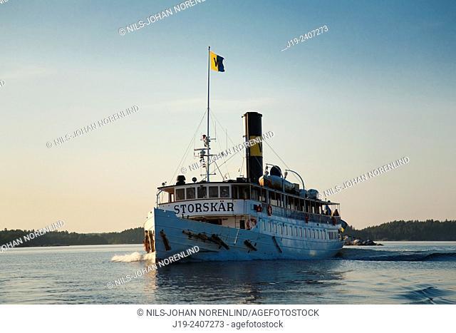 The archipelago Skärmaräng, Stockholm Sweden (passenger boat)
