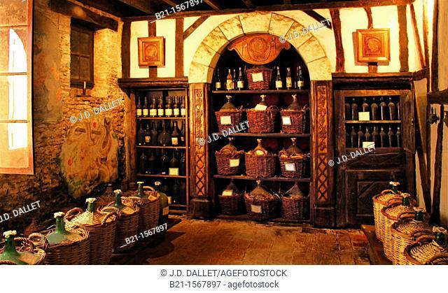 'Paradis' cellar where the oldest Armagnac are stored, Armagnac Dartigalongue estate at Nogaro, Gers, Midi-Pyrenees, France