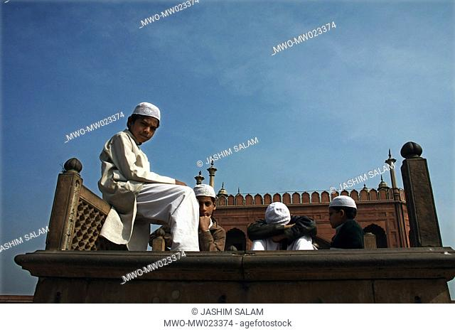 The Jama Masjid mosque lying at the origin of a very busy street of Old Delhi, Chandni Chowk, is the largest mosque in India It was built in 1655 during the...