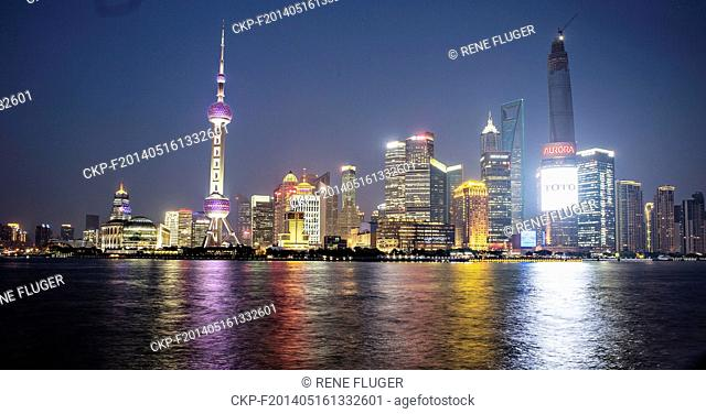 Skyline with skyscrapers on The Bund, the waterfront area in center of Shanghai, China, on April 22nd, 2014. (CTK Photo/Rene Fluger)