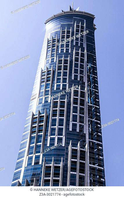 Jw Marriott Marquis Hotel; brand new modern architecture in Business Bay, a business capital as well as a freehold city in Dubai, United Arab Emirates