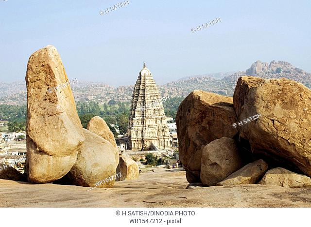 Virupaksha temple in Hampi at Karnataka India Asia