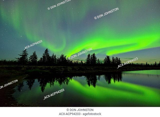 Aurora borealis, Enterprise, Northwest Territories, Canada