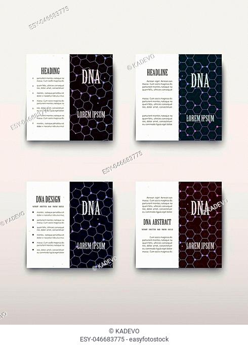 DNA abstract image of molecules containing genetic code with biological information. Vector illustration