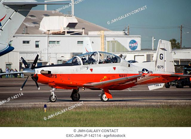 Navy T-6 Photo Chase Plane that took photos of the historic WB-57 formation flight of three WB-57's over Houston on Nov. 19, 2015