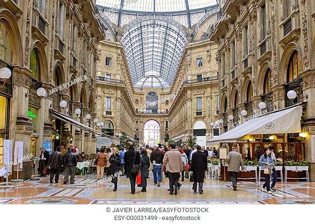 Vittorio Emanuele II Gallery. Milan. Lombardy, Italy
