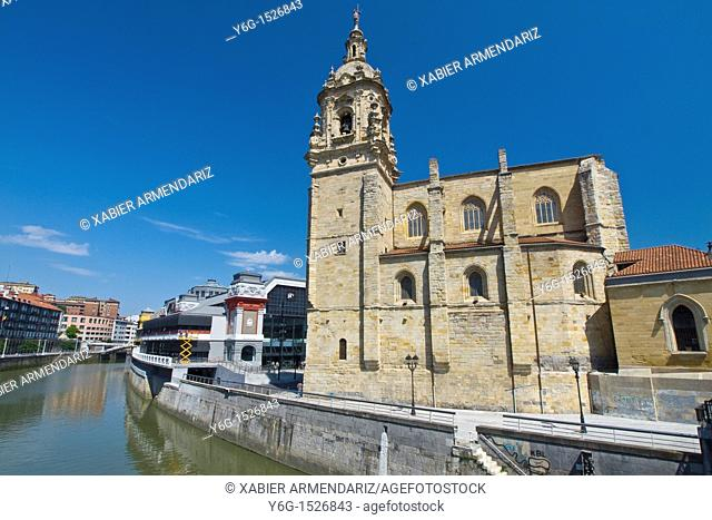 13th century San Anton's church an old market of Bilbao, Biscay province, Basque country, Euskadi, Spain, Europe