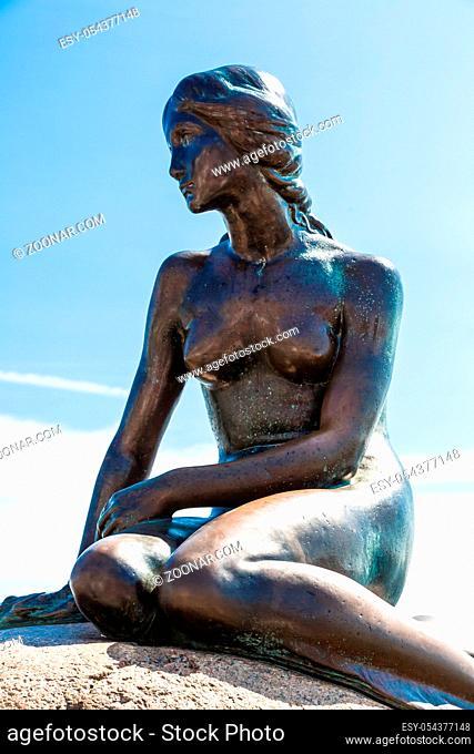 Monument of the Little Mermaid in Copenhagen, Denmark