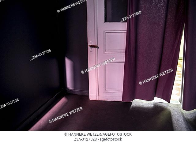Mysterious room with curtain
