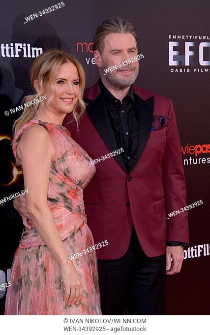 'Gotti' New York premiere at SVA Theater - Red Carpet Arrivals Featuring: Kelly Preston, John Travolta Where: New York, New York