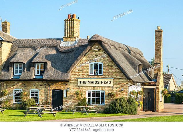 Characterful Wicken Village pub close to Wicken Fen, Cambridgeshire, England, UK