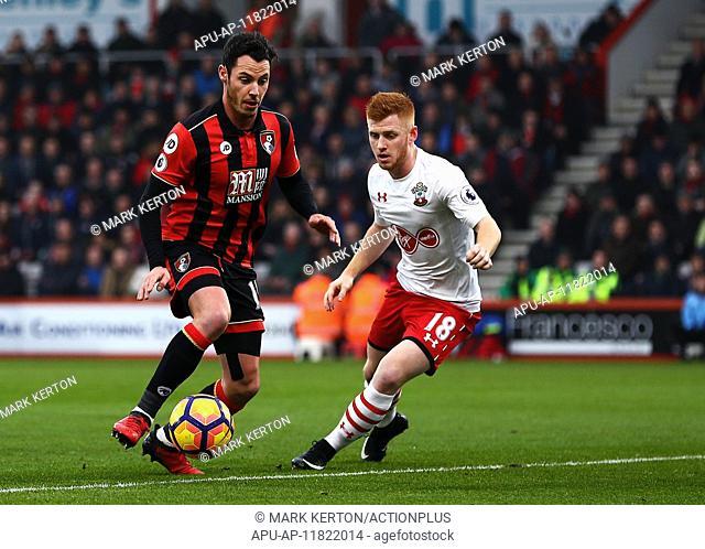 2016 Premier League Football AFC Bournemouth v Southampton Dec 18th. 18.12.2016. Vitality Stadium, Bournemouth, England. Premier League Football