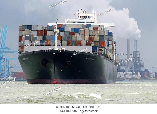 container transport is the cheapest way of transport the biggest ships are able to carry 30,000 containers  the smaller ships can carry few hundred conatiners...