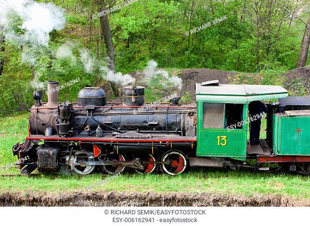 steam locomotive, Kostolac, Serbia