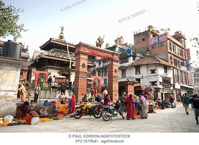 Mahendreshvara Temple in Durbar Square - Kathmandu, Bagmati Zone, Kathmandu Valley, Nepal