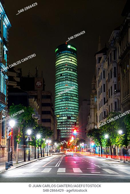 Torre Iberdrola en Bilbao. Vizcaya. Pais Vasco. España. Europa