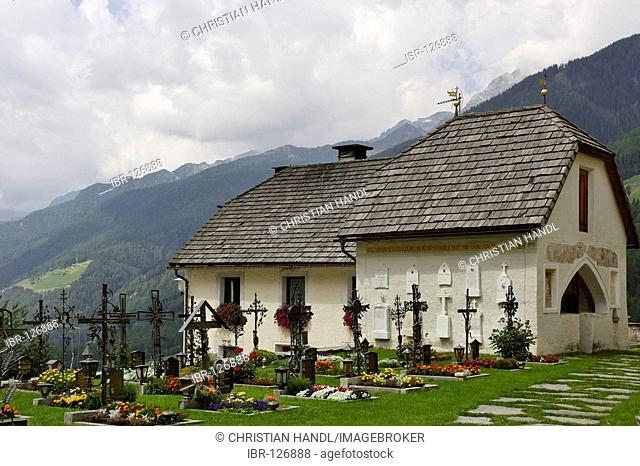 Graveyard, St.Peter at Ahrn, South Tyrol, Italy
