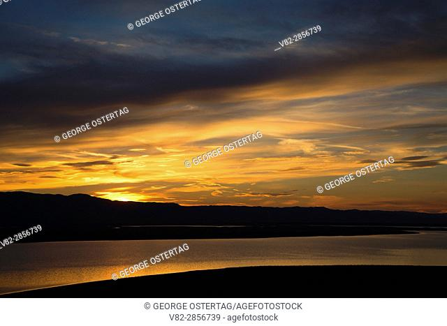 Soda Lake sunrise from Overlook Hill, Carrizo Plain National Monument, California