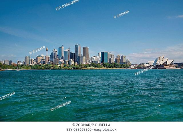 Sydney city view from the water