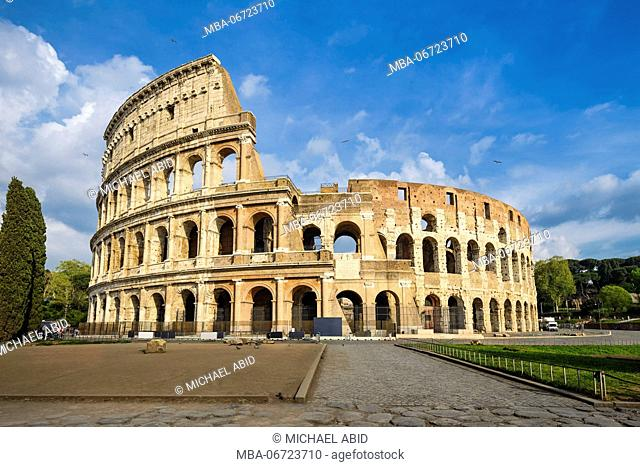 Colosseum in Rome, Italy on a sunny day