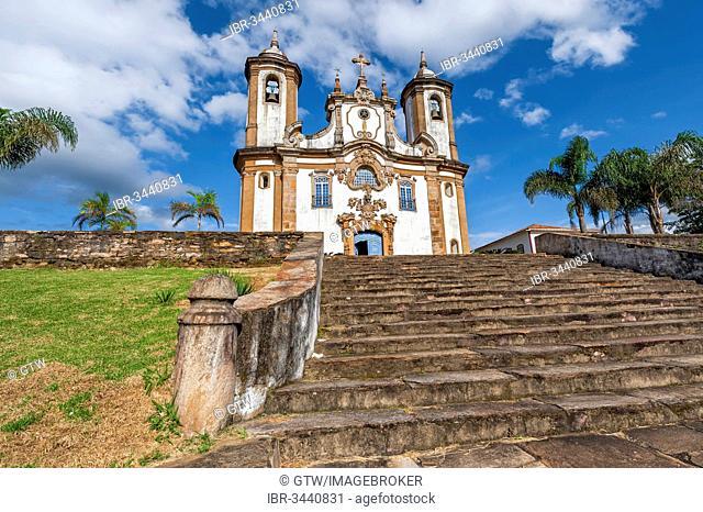 Nossa Senhora Do Carmo Church in the historic centre of Ouro Preto, a UNESCO World Heritage Site, Ouro Preto, Minas Gerais, Brazil