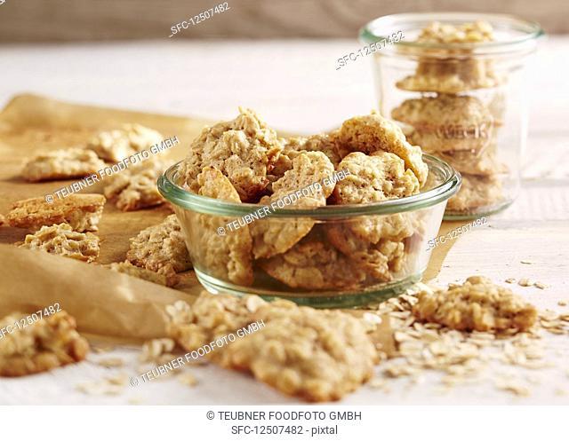 Oat biscuits in a jar