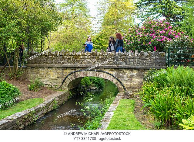 The Middle Gardens leading to the Lower Gardens of Bournemouth in Dorset, England, UK